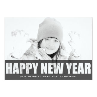 """HAPPY NEW YEAR CUT OUT PHOTO CARD 5"""" X 7"""" INVITATION CARD"""