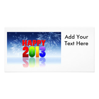 Happy New Year Design Personalized Photo Card