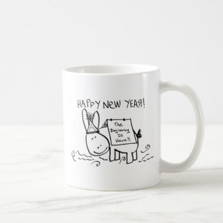 happy new year donkey coffee mug