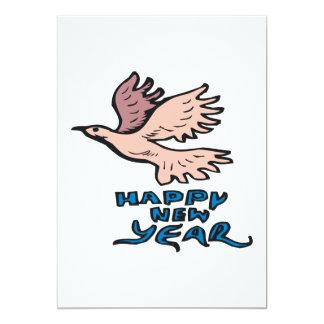 Happy New Year Dove 13 Cm X 18 Cm Invitation Card