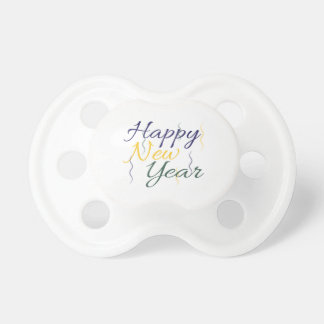 Happy New Year Baby Pacifier