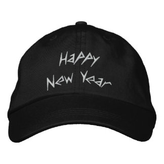 Happy New Year Embroidered Cap
