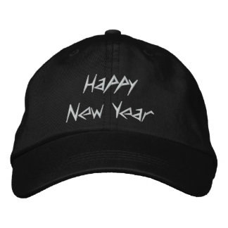 Happy New Year Embroidered Cap - Customized Embroidered Hat