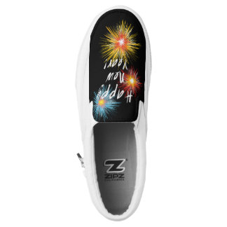 Happy New Year Firework Slip On Shoes
