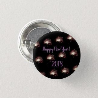 Happy New Year Fireworks 3 Cm Round Badge