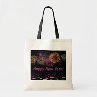 Happy new Year - fireworks Canvas Bag
