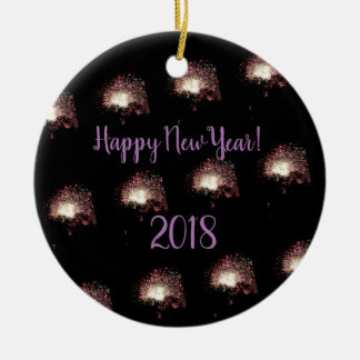 Happy New Year Fireworks Christmas Ornament