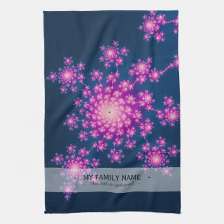 Happy New Year Fractal Tea Towels