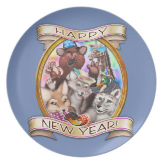 Happy New Year - Frieda Tails collectible plate