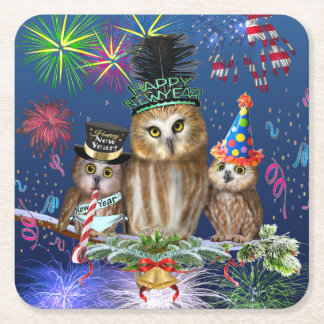 HAPPY NEW YEAR FROM ALL OF US! SQUARE PAPER COASTER