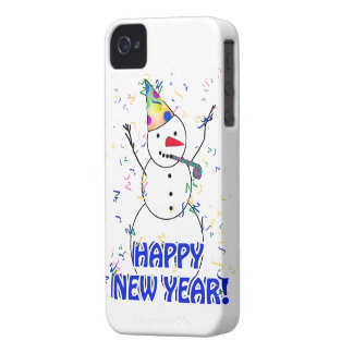 Happy New Year from the Celebrating Snowman Case-Mate iPhone 4 Cases