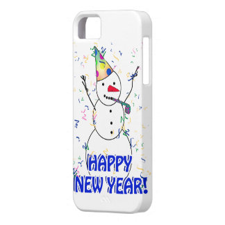Happy New Year from the Celebrating Snowman iPhone 5 Case