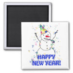 Happy New Year from the Celebrating Snowman Magnets