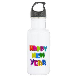 HAPPY NEW YEAR fun 3D-like colourful 532 Ml Water Bottle