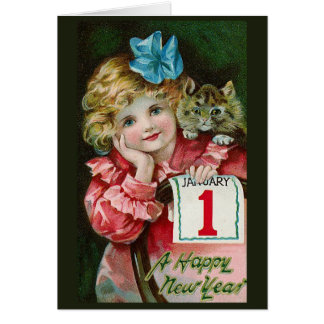 """Happy New Year Girl"" Greeting Card"