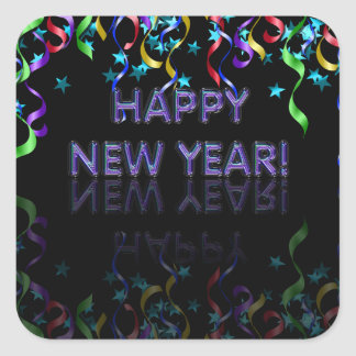 Happy New Year! | Glossy Square Sticker
