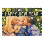 Happy New Year Gold Black | Holiday Photo Card Custom Announcements