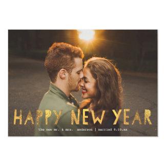 Happy New Year Gold  | New Year Holiday Photo Card 13 Cm X 18 Cm Invitation Card