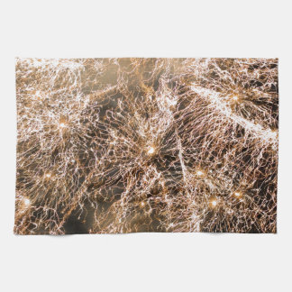Happy New Year Gold sparkly fireworks Towels