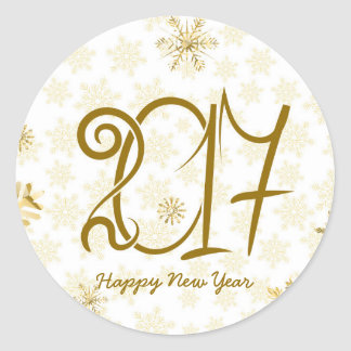 Happy New Year Golden Sticker