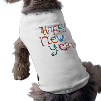 Happy New Year Greeting Doggie Shirt