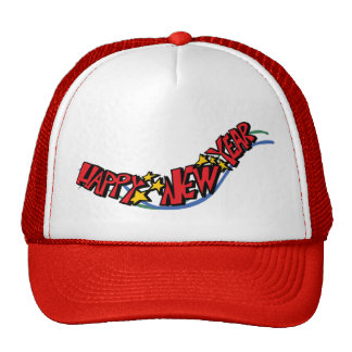 Happy new year - mesh hat