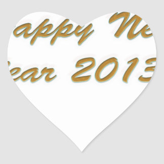 Happy New Year Heart Sticker