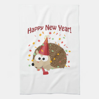 Happy New Year Hedgehog! Hand Towels