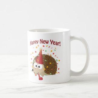Happy New Year Hedgehog! Coffee Mugs