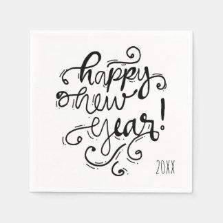 Happy New Year Holiday Napkin Paper Napkin
