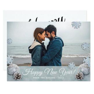 Happy New Year Holiday Photo Card
