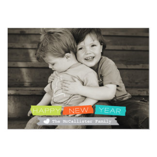 Happy New Year Holiday Photo Card Full Bleed Photo 13 Cm X 18 Cm Invitation Card