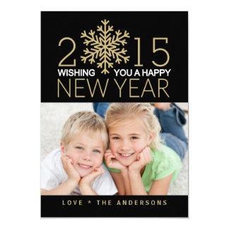Happy New Year Holiday Photo Flat Card 13 Cm X 18 Cm Invitation Card