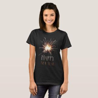 Happy New Year Holiday sparkler firework T-shirt