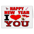 Happy New Year I Love You Card