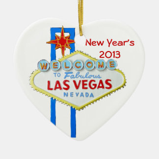 Happy New Year in Las Vegas Christmas Ornament