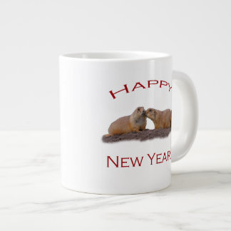 Happy New Year Kiss Jumbo Mug