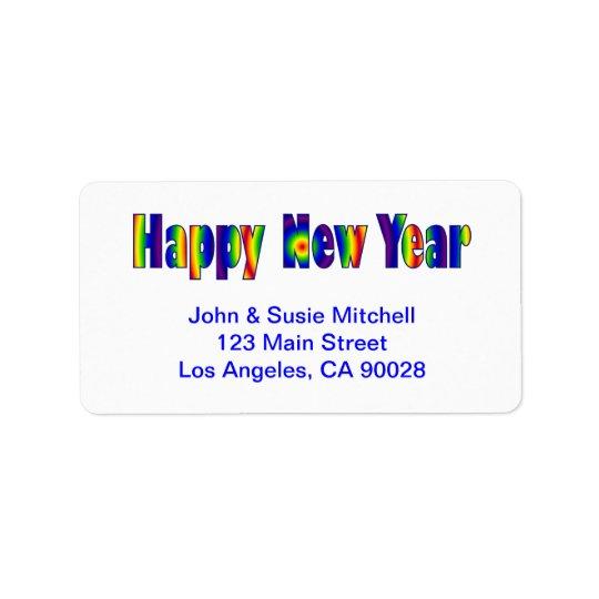 Happy New Year Label