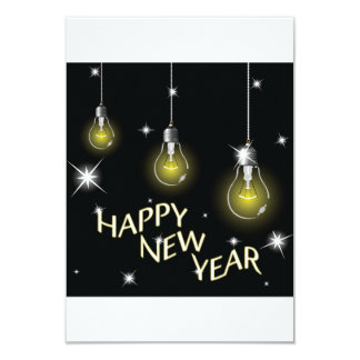 Happy New Year Lightbulbs Invitations