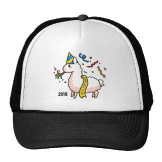 Happy New Year Llama Cap