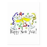 Happy New Year Martini Glasses