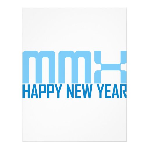 Happy New Year MMX (blue) Full Color Flyer