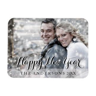 HAPPY NEW YEAR Modern Custom Photo Magnet