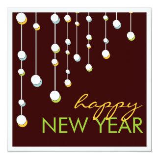 Happy New Year Modern Decoration  Party Invitation