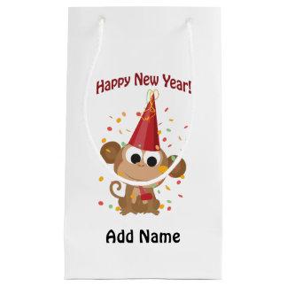 Happy New Year Monkey Small Gift Bag
