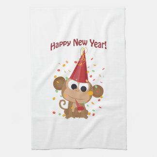 Happy New Year Monkey Tea Towel
