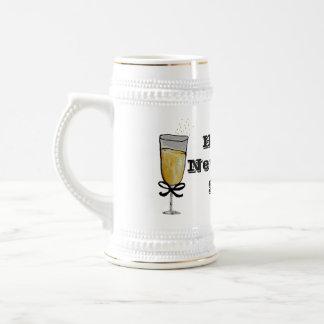 Happy New Year Beer Steins