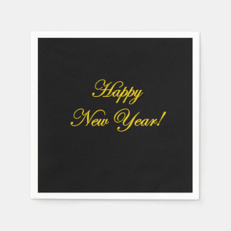 Happy New Year! Napkins Disposable Serviettes