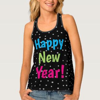 Happy New Year Night Stars Festive Design Tank Top