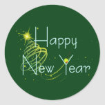 HAPPY NEW YEAR OLIVE by SHARON SHARPE Stickers